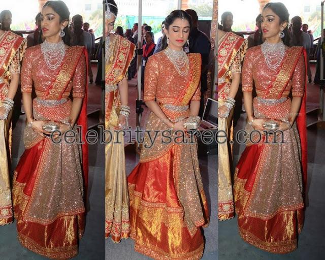 Veena Reddy Sister Shimmer Lehenga