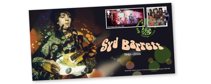 シド・バレットをモチーフにした記念切手