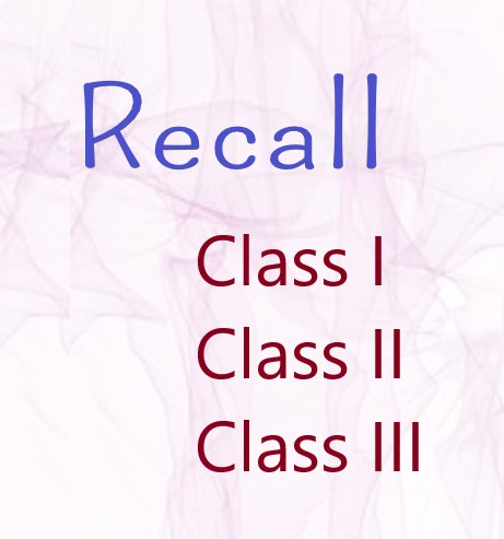 Types of Recall