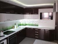 Кухня МДФ в плёнке + столешница  из искусственного камня