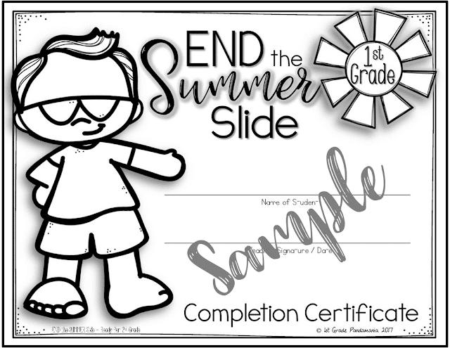 1st Grade Pandamania End The Summer Slide