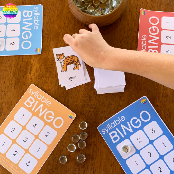 Syllable BINGO Game | you clever monkey