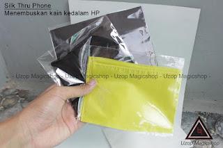 Jual alat sulap Silk Thru Phone Kain menembus Handphone HP