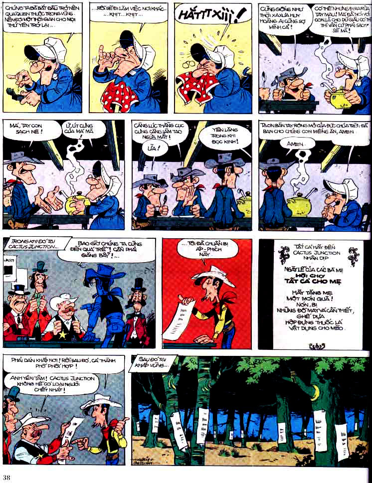 Lucky Luke tap 15 - ma dalton trang 39