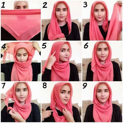 Hijab Segi Empat Modern