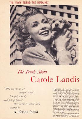 Carole Landis Article