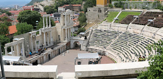 "The ""Ancient Theatre"", set up for a modern concert"