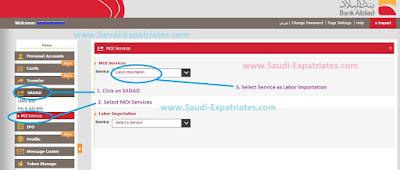 Sadad Online Payment in Bank Albilad Saudi