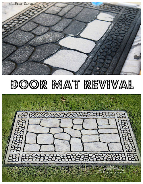 Makeover a worn front door mat with paint, Bliss-Ranch.com