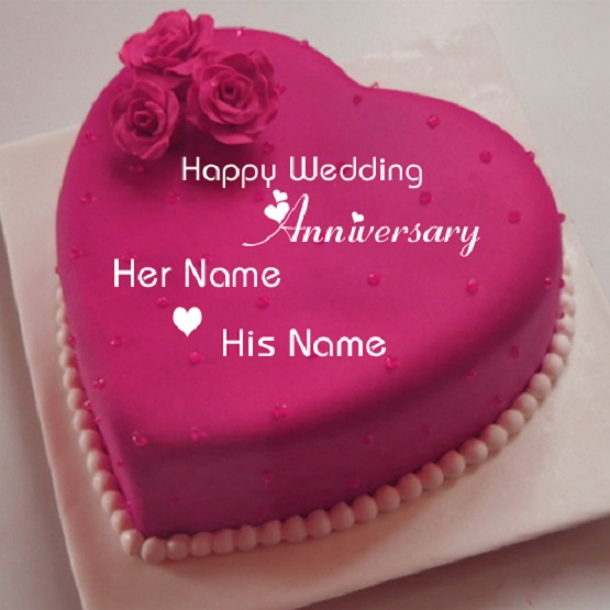 anniversary cakes with name edit