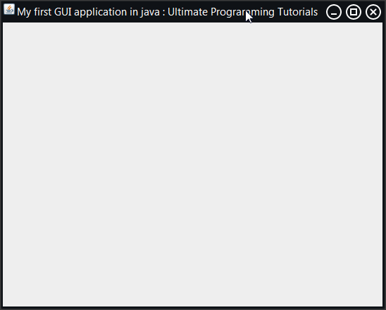 first java application