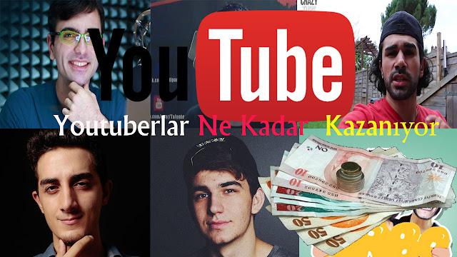 turk youtuberların kazancları