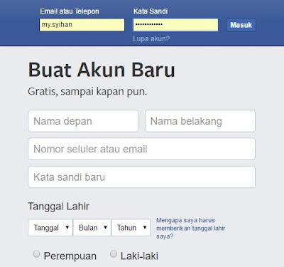 Mengetahui Email Facebook