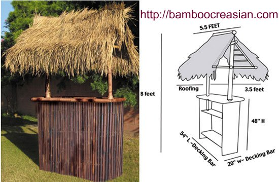 Quality Bamboo And Asian Thatch Bamboo Tiki Bar Bamboo