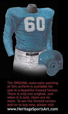 Detroit Lions 1954 uniform