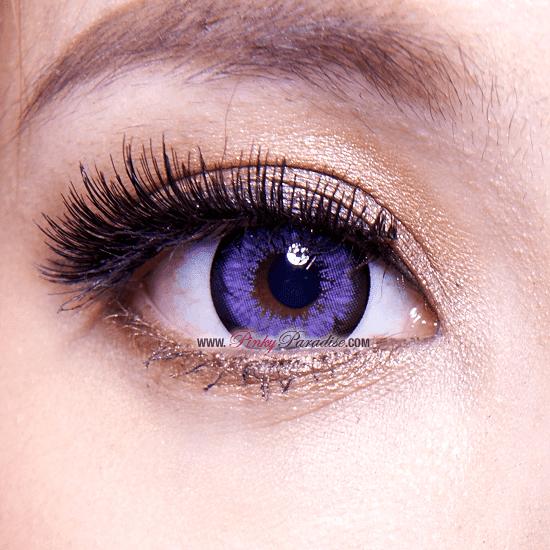 G&G Blossom Violet Circle Lenses Close-up
