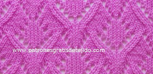 esquema grafico puntada tricot