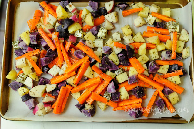 Roasted Potatoes and Carrots