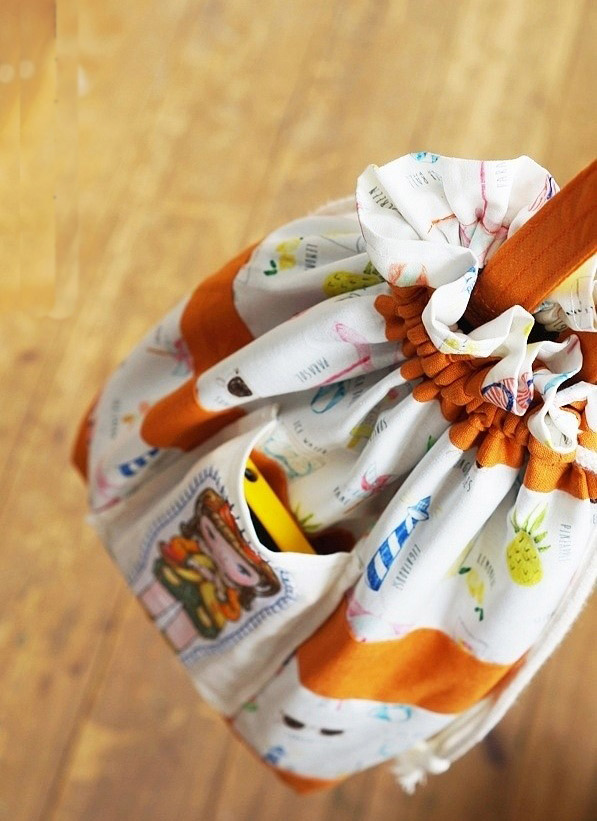 How to Make The Drawstring Shoe Bag. Drawstring Bag Tutorial in pictures.