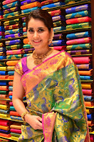 Raashi Khanna in colorful Saree looks stunning at inauguration of South India Shopping Mall at Madinaguda ~  Exclusive Celebrities Galleries 003.jpg