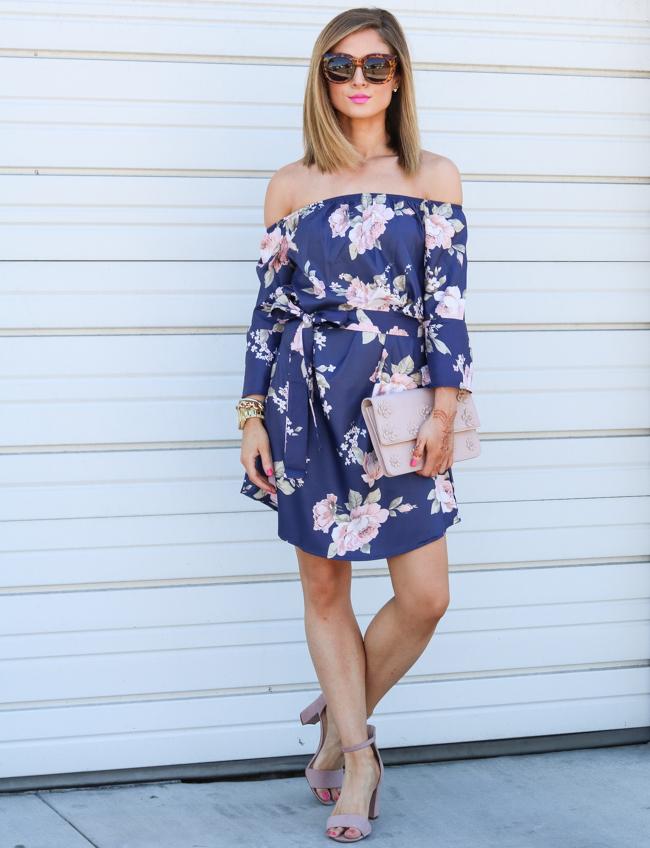 groopdealz off the shoulder floral dress