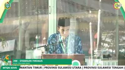 Download MP3 Tilawah Syamsuri Firdaus MTQ Nasional 27 Sumatera Utara