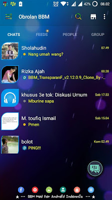 BBM CLONE TRANSPARAN Change Background v2.12.0.9 Apk