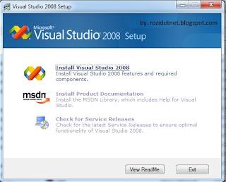 Cara Instal Visual Studio 2008 Express Edition