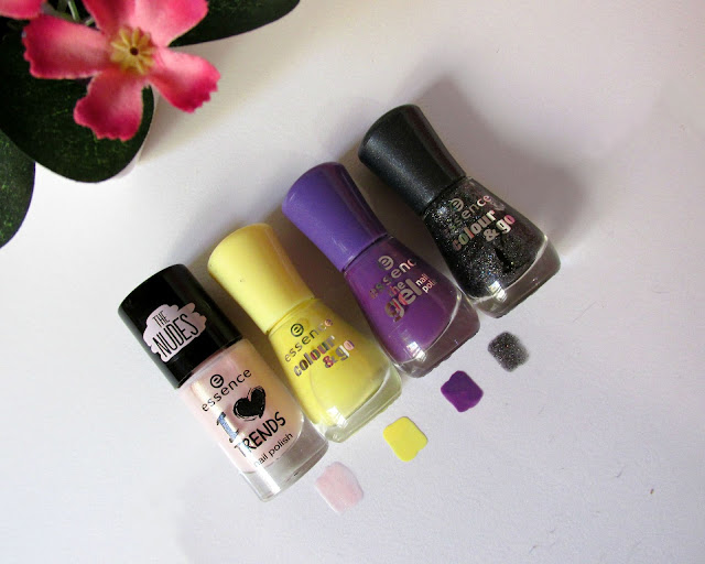 Essence cosmetics haul, makeup review, essence nail polishes