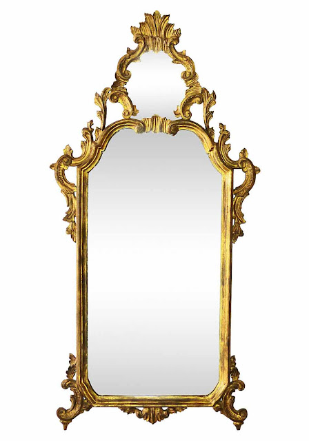 Hollywood Regency 1, Carved Italian Gilded Mirror, vintage