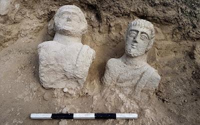 Ισραήλ: Σπάνιες προτομές 1700 ετών βρέθηκαν σε νεκροταφείο