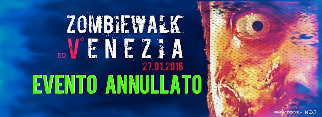 Zombie Walk Venezia: evento annullato