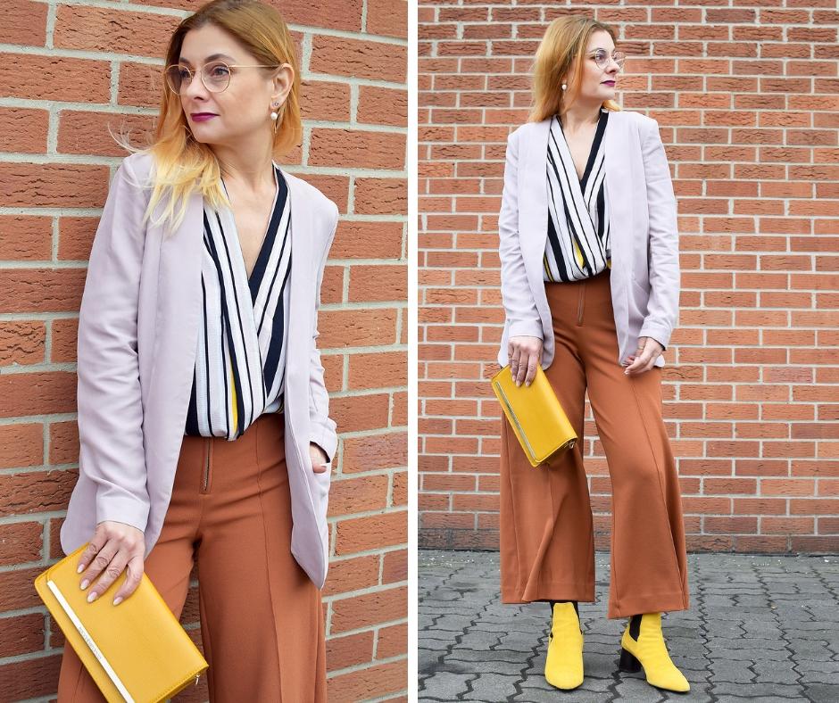 Gelbe Schuhe und gelbe Handtasche | Gelb mit anderen Farben tragen