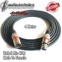 Kabel Mic XLR Male To Female Canon Canare 4 Meter