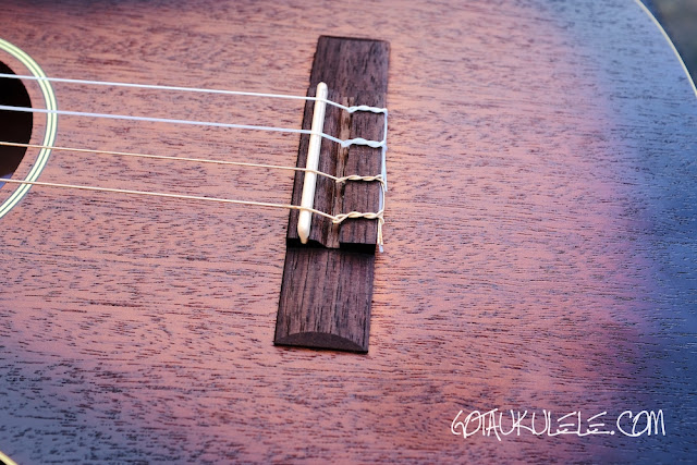 Duke DUBVB Baritone Ukulele bridge