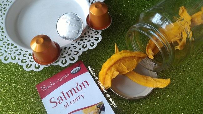 Favoritos de comida - cápsulas de Nexpresso - Mango deshidratado sin azúcar - Salmón al curry