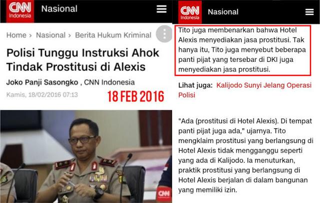 Pengakuan Jujur Tito Karnavian: Di Alexis Ada Prostitusi; Masih Ada Yang Berani Bantah?