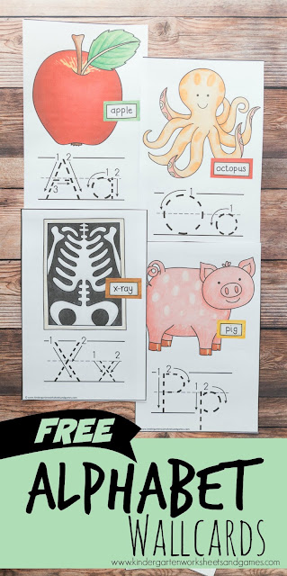 FREE Alphabet Wallcards