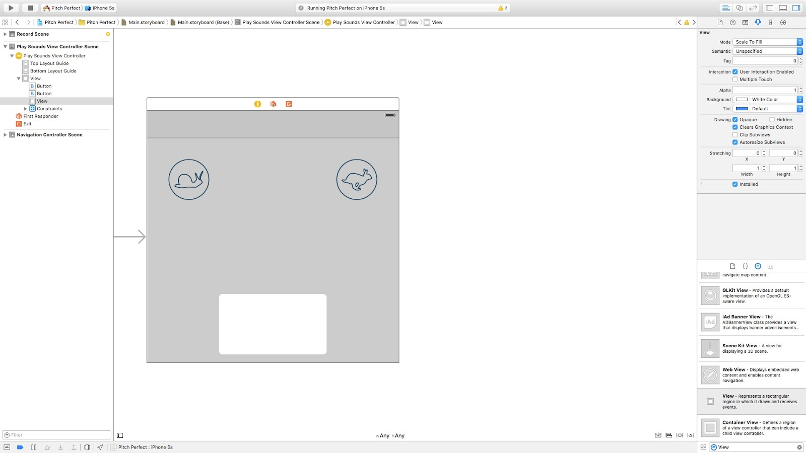 iOS Custom Views : How do you add a play/pause bar in Swift? | iOS