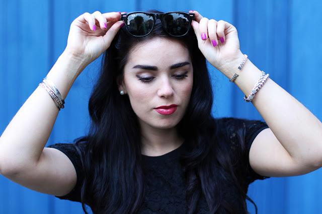 London fashion blogger Emma Louise Layla in Rayban Wayfarers - UK fashion blog
