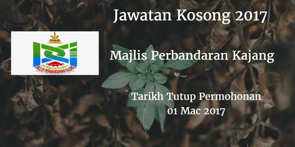 Jawatan Kosong MPKJ 01 Mac 2017