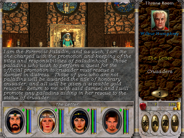 Class promotion for Paladins in Might and Magic 6.