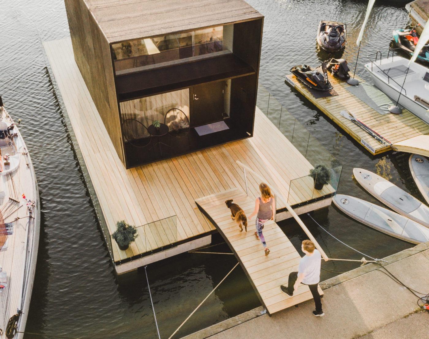 Small Prefab Floating Home By Koda