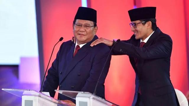 Beri Pijatan Saat Debat, Sandiaga Dinilai Bisa Redam Emosi Prabowo