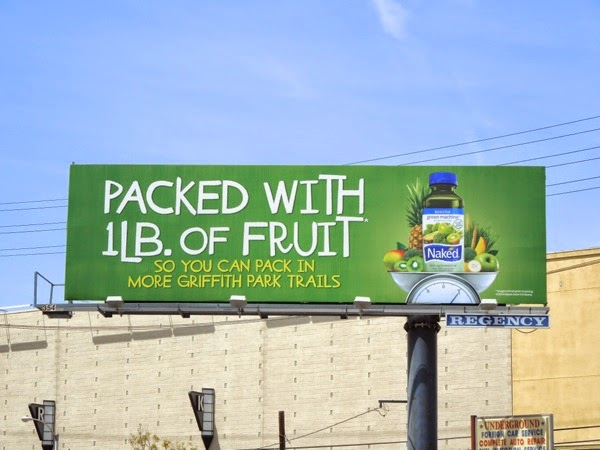 Griffith Park trails Naked Juice billboard