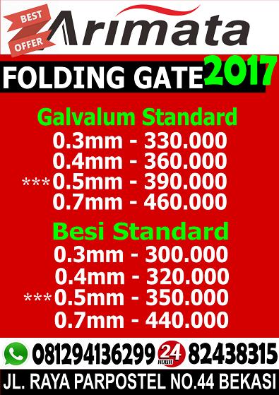 gambar harga folding gate di pondok kopi