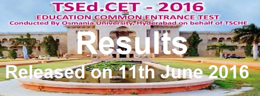 TS Ed.CET 2016 Results