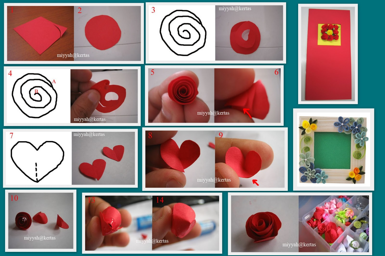 how to make a paper rose instructions