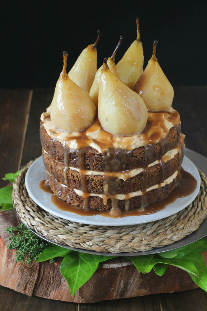 caramelized-pear-naked-cake, naked-cake-de-peras, mousse-de-caramelo