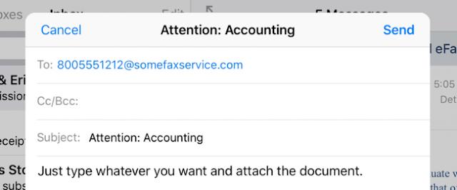 Inviare un fax allegato ad una mail con lo smartphone
